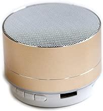 ワイヤレス Bluetoothコンパクトスピーカー (ゴールド)