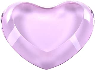 LONGWIN Solid Pink Crystal Heart Paperweight Ornament Beautiful