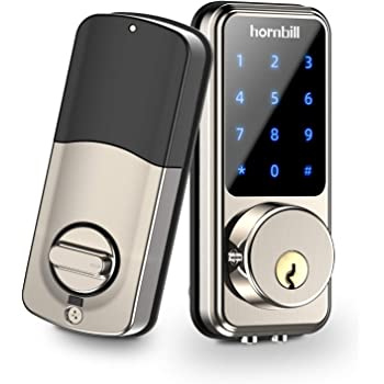 [2020 Newest] Smart Lock Keyless Entry Deadbolt Door Locks, Digital Electronic Bluetooth Deadbolt Door Lock with Keypad, Smart Locks Front Door Work with APP, Code and eKey Auto Lock for Homes Hotels