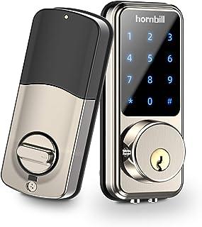 [جدیدترین مدل 2020] قفل درب Deadbolt بدون قفل ورودی قفل درب ، قفل درب بلوتوث الکترونیکی Deadbolt با صفحه کلید ، قفل هوشمند قفل درب جلو با APP ، کد و قفل خودکار eKey برای هتل های خانه ها