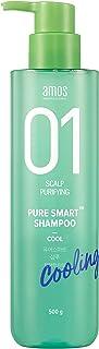 AMOS PROFESSIONAL Pure Smart Shampoo [Cool – For Stuffy-Feeling Scalp] 500g | Sebum Care & Refreshing Finish | Korean Hair...