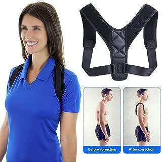 HIXGB Posture Corrector Brace Support Belt Adjustable Back Posture Corrector Clavicle Spine Back Shoulder Lumbar Posture Correction for Men and Women