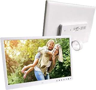 Digital Photo Frame, 17 Inch LED HDMI Portable Movie Player Digital Photo Frame MP3 Video Player Calendar Alarm Clock with...