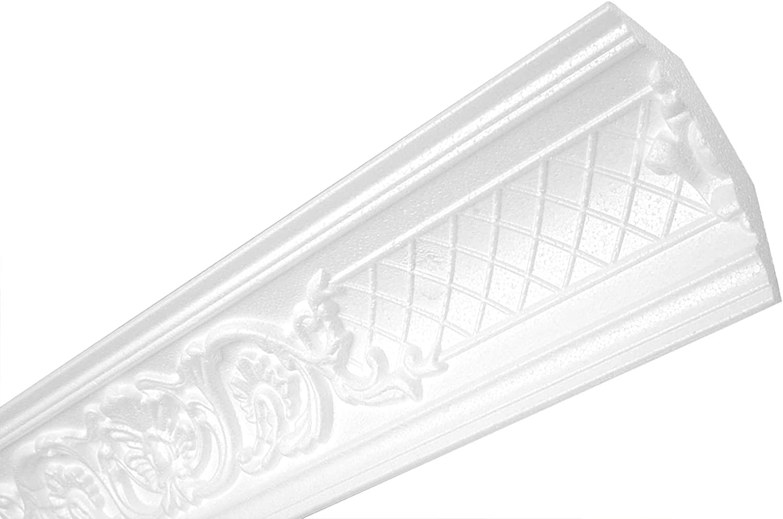 Zm1-116 X 49 MM 2 M/ètres Baguettes D/écoratives Plafond forme stable /à Motif L/éger Polystyr/ène Eps Profils de Pl/âtre Heximo ZM