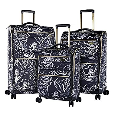 kensie Night Flower 3 Piece Designed Luggage Set