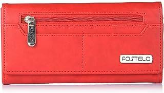 Fostelo Women's Versatile Two Fold Wallet (Red)
