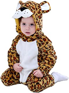 Doladola Babyoverall Animal Leopard Onesies Baby Strampler Säuglingsoverall-Pyjama