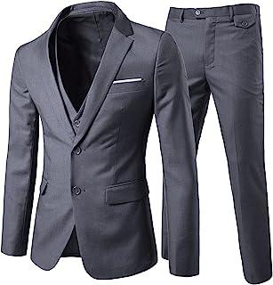 دکمه های مردانه Cloudstyle 3 تکه 2 باریک کت و شلوار کت و شلوار رنگ جامد متناسب با لباس عروسی هوشمند