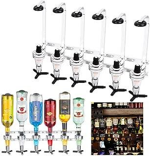 6 Bottles Shots Wall Mounted Wine Liquor Drinks Beer Dispenser Home Bar Butler