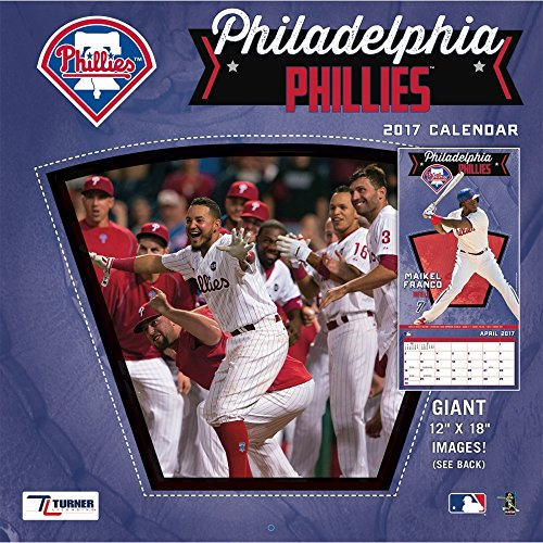 "Turner Licensing Sport 2017 Philadelphia Phillies Team Wall Calendar, 12""X12"" (17998011859)"