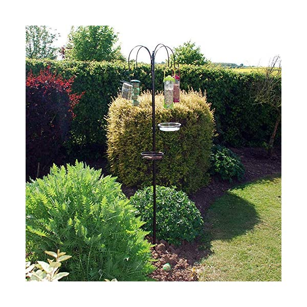 HomeZone Traditional Style Garden Bird Feeding Station Wild Bird Hanging Feeder for Garden