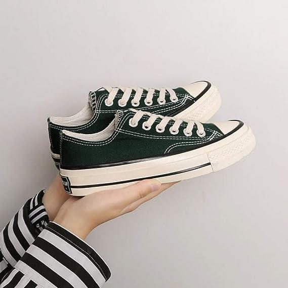 XL/_nsxiezi Zapatos de Lona de Las se/ñoras del Vintage Zapatos de Corte bajo Estudiantes