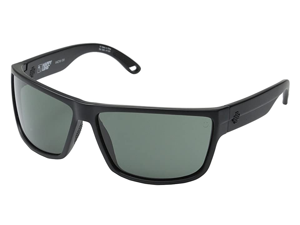 Spy Optic Rocky (Matte Black/Happy Gray Green) Fashion Sunglasses