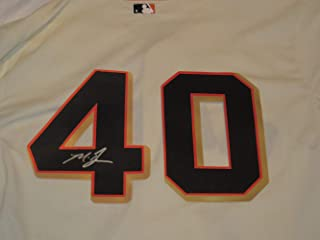 Madison Bumgarner Signed San Francisco Giants Jersey W/PROOF, Picture of Madison Signing For Us, San Francisco Giants, 2010, 2012, 2014 World Series Champion, MVP
