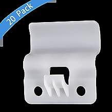 Vinyl Siding Hooks (20 Pack), Plastic White Outdoor Low Profile Hanging Clips No-Hole Needed Vinyl Siding Hanger