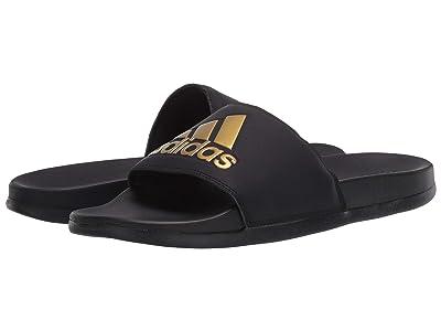adidas Adilette Comfort (Core Black/Gold Metallic/Core Black) Men