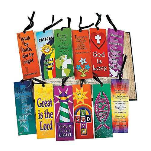Fun Express - Mega Religious Bookmark Assortment - Stationery - Bookmarks - Bookmarks - 144 Pieces