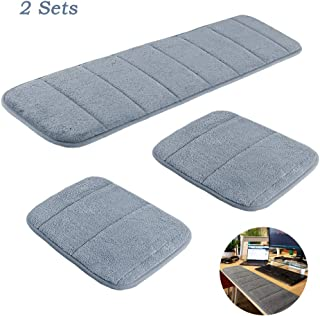 2 Sets Ergonomic Computer Elbow Wrist Pad, AUHOKY Long & Short Size Combination Keyboard Wrist Rest Elbow Support Mat for Office Desktop Working Gaming - Memory Foam Relieve Elbow Pain (Gray)