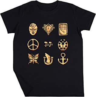 Extraño Emblemas Niño Niña Unisexo Negro Camiseta Manga Corta Kids Black T-Shirt