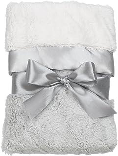 Bearington Baby Silky Soft Small Security Blanket, Blankie (Grey) 41cm x 41cm