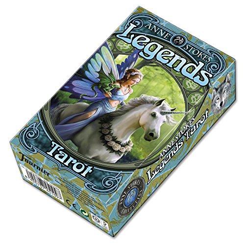 Fournier- Tarot Legends por Anne Stokes Baraja de Cartas, Color Verde (1031264)