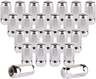 ECCPP Replacement for Wheel Lug Nuts 24 Pieces 14x1.5 Silver Chrome Bulge Acorn 1.72