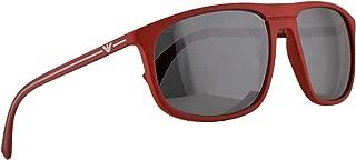 Emporio Armani EA4118 Sunglasses Red Rubber w/Grey Mirror Black Lens 59mm 56906G EA 4118