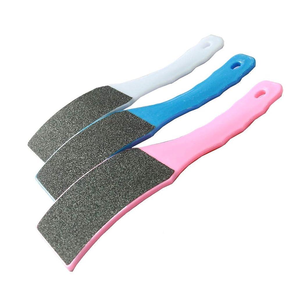 デコラティブレース証明する足 かかと削り 角質除去 Filan プラスティック プロフットケア 足やすり 防水 ビューティーフットレギュラー 角質リムーバー 角質ヤスリ「両面製」3セット入り お風呂 水洗い可