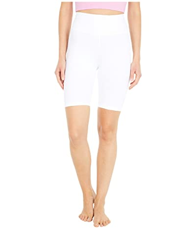 YEAR OF OURS Ribbed Biker Shorts (White) Women