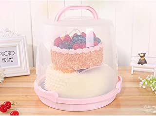 MineDecor 24 Cupcake Carrier Cake Carrier Holder Portable 3 Tier Cupcake Transporter Box Muffin Container with Locking Lid and Handle for Pie Cookies (blue2) (Pink)