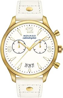ساعة موفادو هيريتيج كرونوغراف مينا بيضاء للسيدات 3650026