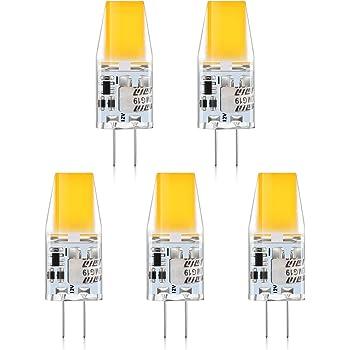 Creyer G4 Led Lampen Kein Flackern 300 Lumens 3w Ersetzt 30w Halogenlampen Warmweiss 2900k Nicht Dimmbar G4 Led Leuchtmittel Birne 12v Ac Dc 5er Pack Amazon De Beleuchtung