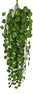 Gotian 1Pcs Artificial Fake Hanging Vine Plant Leaves Artificial Leaf Vine Garland Home Garden Wall Decoration Green Home Wall Garden Wedding Party (B)