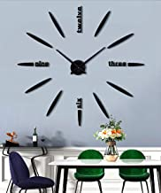 SIEMOO DIY Wall Clock, 3D Mirror Stickers Large Frameless Wall Clock Modern Design..