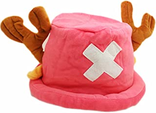 E.a@Market Adult Anime One Piece Chopper Cosplay Plush Cap Pink