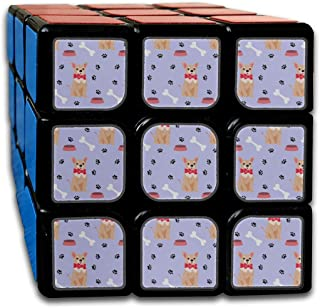 Custom 3x3 Magic Cube Game Best Brain Training Toys 3x3x3 Cartoon Cute Funny Pet Dog Chihuahua 3D Puzzle Toy Party Game for Boys Girls Kids Toddlers-55mm