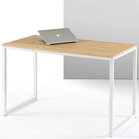 ZINUS Jennifer 119 cm Escritorio para ordenador portátil   Escritorio de estudio para oficina en casa   Montaje sencillo   Estructura metálica   Natural