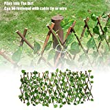 <span class='highlight'><span class='highlight'>HiFuture</span></span> Artificial Garden Plant Fence, 40/70cm Expanding Trellis Fence UV Protected Privacy Screen Artificial Hedge Fence Panels Green Plants Hedge For Backyard Home Decor Greenery Walls