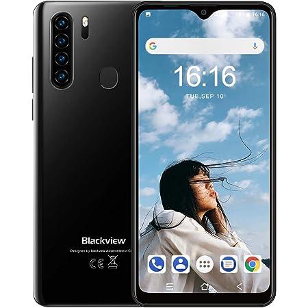 Blackview A80Pro スマートフォン本体 4Gスマホ本体 simフリー 6.49インチ 1300万画素+800万画素 4680mAh RAM 4GB + ROM 64GB Android 9.0端末 ナノシム対応 携帯電話 技適認証済み 1年間保証付き AU対応不可 サブ機(ブラック)