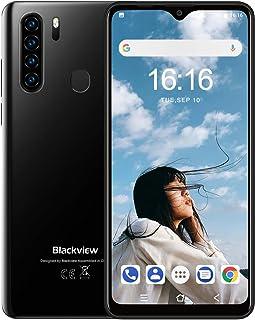Blackview A80Pro スマートフォン本体 4Gスマホ本体 simフリースマートフォン本体 6.49インチ 13MP+8MP 4680mAh RAM 4GB + ROM 64GB Android 9.0端末 携帯電話 技適認証済み 1年間保証付き(ブラック)