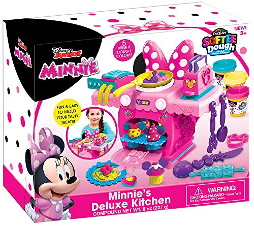Cra-Z-Art Disney Junior Minnie Mouse Deluxe Kitchen Set, Kids Ages 4 Years and Up