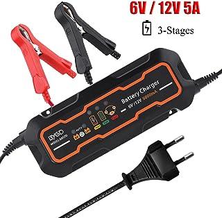 KIMISS 6V/12V 5A Cargador de batería inteligente automá