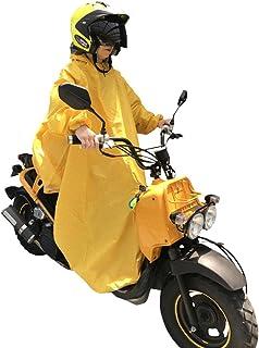 NedVed (ネドベド) レインポンチョ 長袖付き 足元ロング丈 バイク 原付 スクーター 自転車 メンズ レディース フリーサイズ イエロー