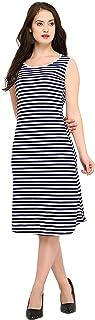 RZLECORT Women's A-Line Knee-Long Dress