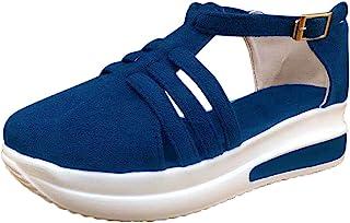 Geilisungren Damen Sandalen Sommer Orthopädische Sommerschuhe Frauen Freizeitschuhe Pantoffeln Plattform rutschfest Schuhe