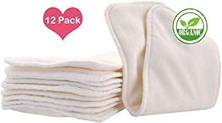 Baby Cloth Diaper Bamboo Inserts,12pcs 4layers Super Water Absorbent/Soft Bamboo Fabric