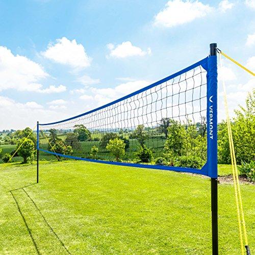 Vermont Juego de Voleibol – Postes, Red y Cinta para Marcar Campos para Voleibol/Voley Playa (con Bolsa de Transporte) (Voleibol) ✅