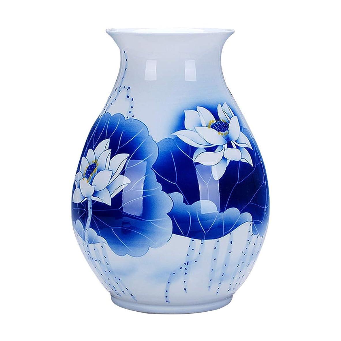 不注意平野不名誉な花瓶 デコレーションホーム世帯ウェディングリビングルームベッドルームオフィステーブル白24のx 34センチメートルための花瓶セラミッククラシックロータスハイグレード