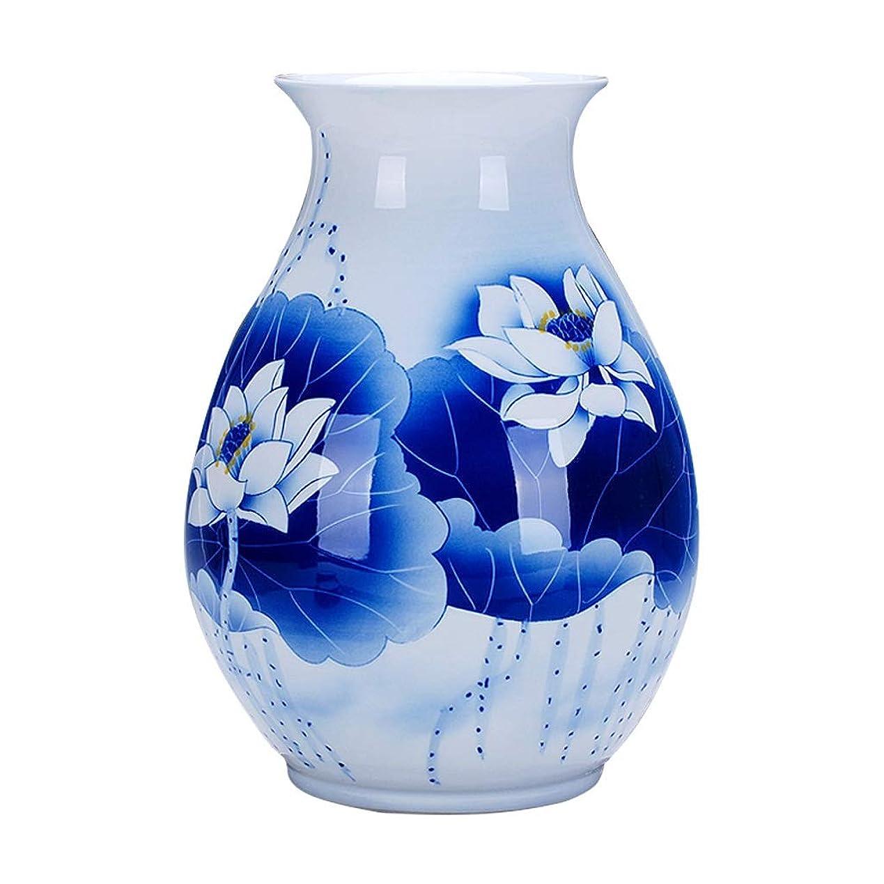 リング命令的娯楽花瓶 デコレーションホーム世帯ウェディングリビングルームベッドルームオフィステーブル白24のx 34センチメートルための花瓶セラミッククラシックロータスハイグレード