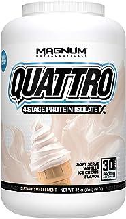 Sponsored Ad - Magnum Nutraceuticals Quattro Protein Powder - 2lbs - Vanilla Ice Cream - Pharmaceutical Grade Protein Isol...